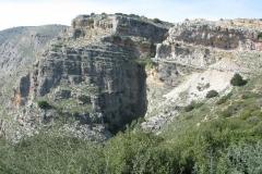 In den Bergen oberhalb von Messolonghi